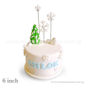 CKR28 Snowy Alps Sweetest Moments Birthday Cake Fondant