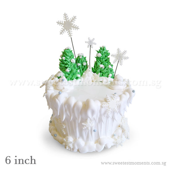 CKR29 Winter Wonderland Sweetest Moments Birthday Cake Buttercream Fondant Elsa Frozen