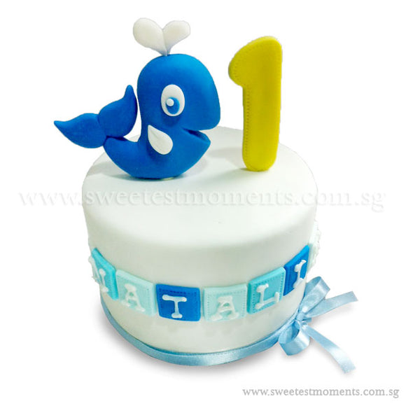 CKR30 Loving Dolphin Sweetest Moments Birthday Cake Fondant
