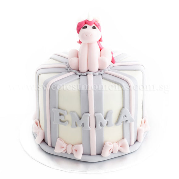 CKR31 My Little Unicorn Sweetest Moments Birthday Cake Fondant