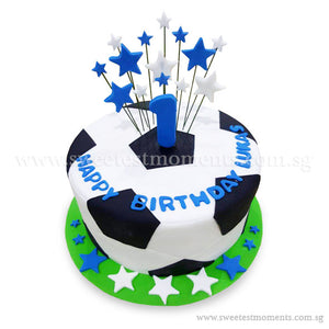 CKR32 Football Star Sweetest Moments Birthday Cake Fondant