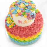 CKR35 Magical Fairytale Sweetest Moments Birthday Cake Buttercream 2-Tier