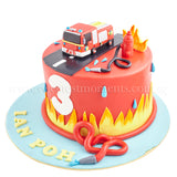 CKR38 Fire Rescue Sweetest Moments red velvet fondant moist chocolate engine