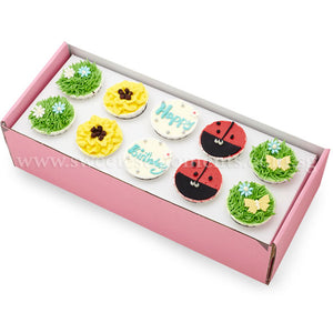 CK01 Garden Theme Sweetest Moments Birthday Standard Cupcake Buttercream