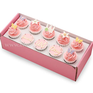 CK06 Princess Theme Sweetest Moments Birthday Standard Cupcake Buttercream Pink