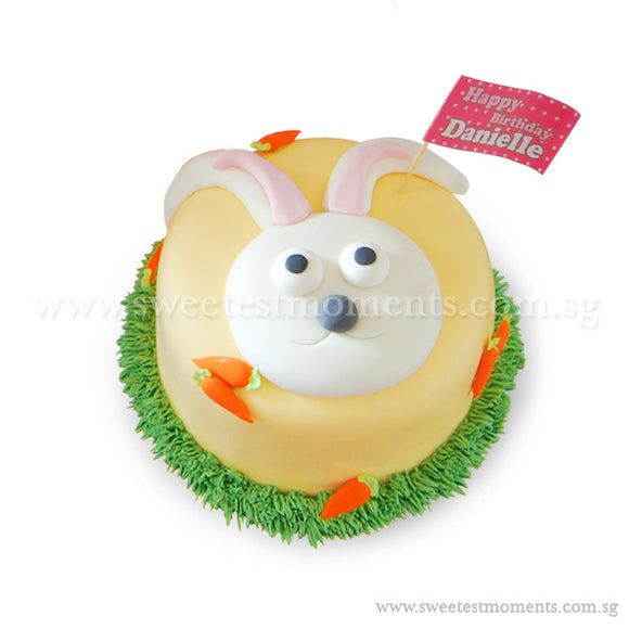 CLR01 Cutie Bunny Sweetest Moments Birthday Full Month Standard Cake Fondant