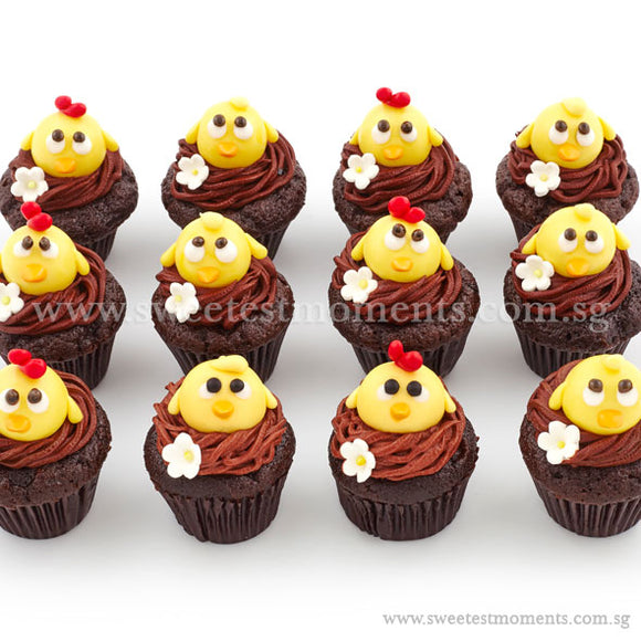 CM10 Mini Chicky Chicks Sweetest Moments Full Month Mini Cupcake Buttercream Fondant