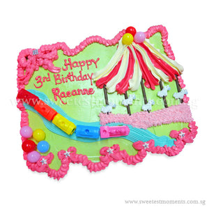CMP03 Circus Sweetest Moments Birthday Pull Apart Mini Cupcake Buttercream
