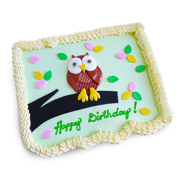CMP04 Owl Sweetest Moments Birthday Pull Apart Mini Cupcake Buttercream