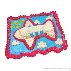 CMP05 Aeroplane Sweetest Moments Birthday Pull Apart Mini Cupcake Buttercream