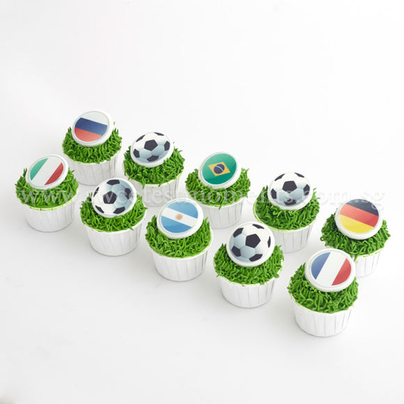 CK11 Soccer World Sweetest Moments Birthday Standard Cupcake Buttercream Fondant
