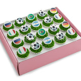 CKB11 Soccer World Sweetest Moments Birthday Standard Cupcake Buttercream Fondant Box of 20