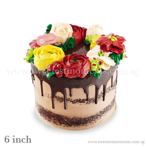 CRR01 Rustic Floral Sweetest Moments Birthday Cake Buttercream