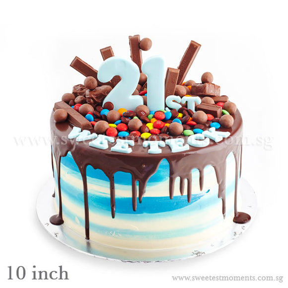 CRR02 Chocolatey Ombre Sweetest Moments Birthday Cake Buttercream