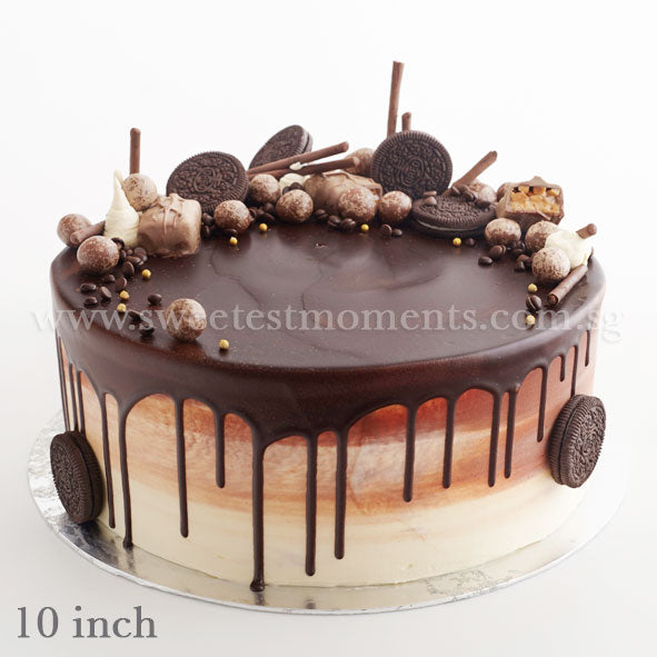 CRR08 Chocolate Paradise Sweetest Moments Birthday Cake Buttercream 10 Inch