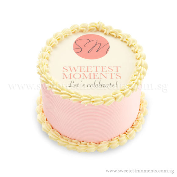 CTR01 Branded Cake Sweetest Moments Corporate Cake Buttercream Fondant Edible Image Personalised