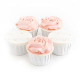 CW08 Pearly Blossom Sweetest Moments Wedding Standard Cupcake Fondant Buttercream