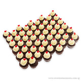 CWM01 Sweetheart Full Month Birthday Wedding Corporate Mini Cupcakes Buttercream Sweetest Moments Box of 54