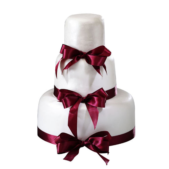 CWR03 Elegantia Sweetest Moments Wedding Cake Fondant 3-Tiered
