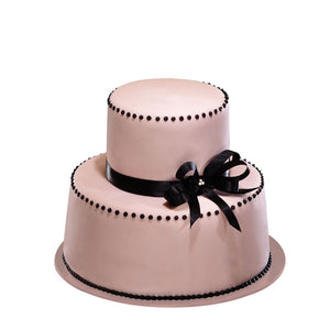 CWR04 Pink Box Sweetest Moments Wedding Cake Fondant 2-Tiered