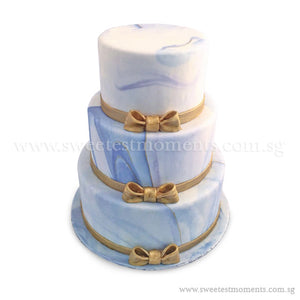 CWR07 Modern Glamour Sweetest Moments Wedding Cake Fondant 3-Tiered