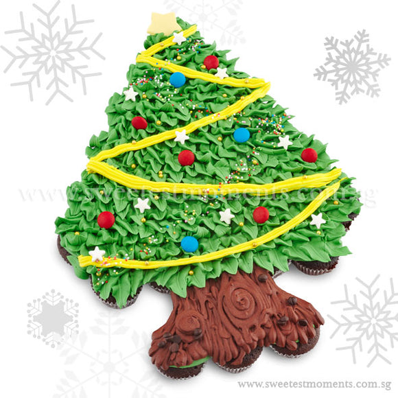 COMP01 Christmas Tree sweetest moments pull apart mini cupcakes moist chocolate christmas