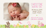 Personalised BabyCards for Girls Sweetest Moments Forest Animals Baby Girl BabyCard