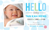 Personalised BabyCards for Boys Sweetest Moments Hello Baby Boy BabyCard