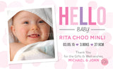 Personalised BabyCards for Girls Sweetest Moments Hello Baby Girl BabyCard