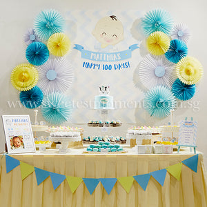 DIY Dessert Table Pack Sweetest Moments Full Month 100th Day Classic Boy