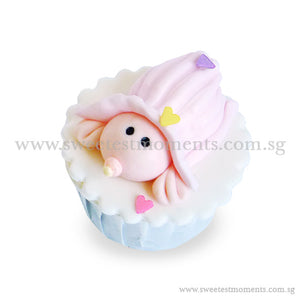 CFI01 Baby Under Blanket Sweetest Moments Full Month Standard Cupcake Individually-Packed Door Gifts