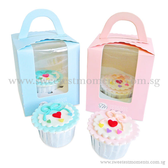 CFI04 Bib Sweetest Moments Full Month Standard Cupcake Individually-Packed Door Gifts