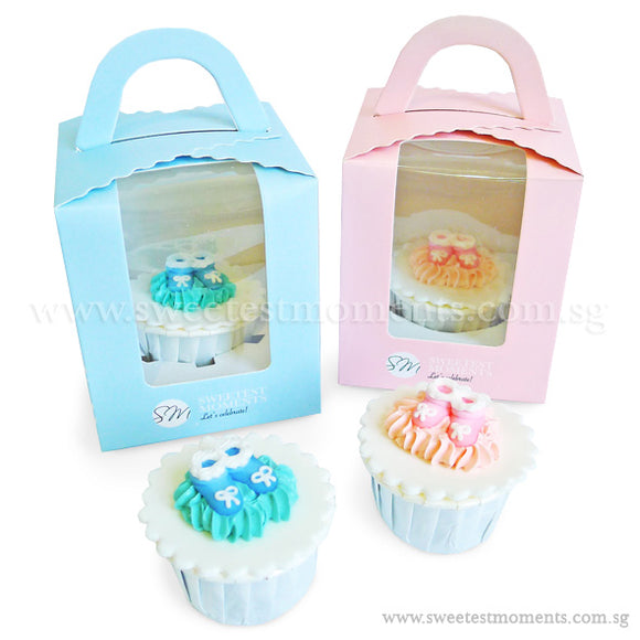 CFI03 Booties Sweetest Moments Full Month Standard Cupcake Individually-Packed Door Gifts