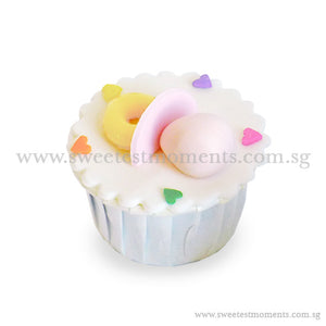 CFI02 Pacifier Sweetest Moments Full Month Standard Cupcake Individually-Packed Door Gifts