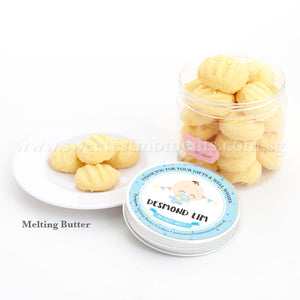 KT Personalised Premium Celebration Cookies Sweetest Moments Full Month Birthday Door Gifts Melting Butter Baby Boy Blue