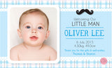Personalised BabyCards for Boys Sweetest Moments Little Man BabyCard