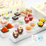 PF04C Premium Beatitude Full Month Package Sweetest Moments Swiss Rolls Brownies Pastel Cubes Good Luck Red Eggs Mochi Ang Ku Kuehs Peachy Tarts Mini Muffins Mini Chicky Chicks