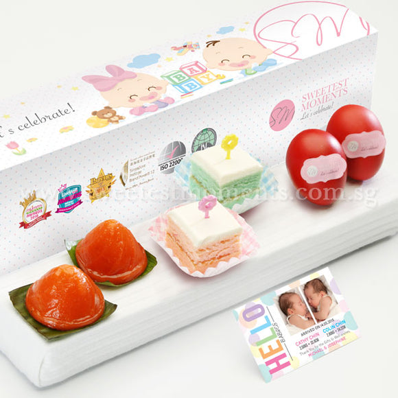 PP08 Picks De Petit Full Month Package Sweetest Moments Ang Ku Kuehs Good Luck Red Eggs Pastel Cubes Baby Block Box