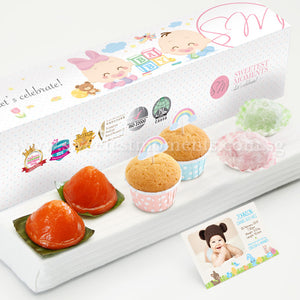 PP12 Lively De Petit Full Month Package Sweetest Moments Mochi Mini Muffins Ang Ku Kuehs Baby Block Box