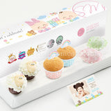 PP13 Happy De Petit Full Month Package Sweetest Moments Mini Baa Baa Cupcakes Mini Muffin Mochi Baby Block Box