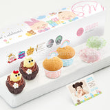 PP13C Happy De Petit Full Month Package Sweetest Moments Mini Chicky Chick Mini Muffin Mochi Baby Block Box