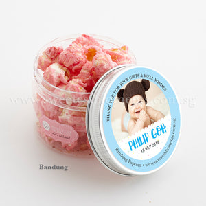 PT Personalised Celebration Popcorn Sweetest Moments Full Month Birthday Door Gifts Bandung Baby Boy Confetti Blue