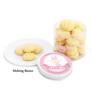 KT Premium Celebration Cookies Sweetest Moments Full Month Birthday Door Gifts Melting Butter Baby Girl Pink
