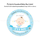 Premium Standard Cookie Label Baby Boy Blue