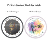 Premium Standard Cookie Label Thank You Colourful Black & Gold