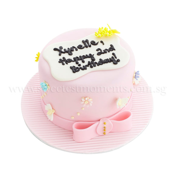 CKR14 Coco's Hat Sweetest Moments Birthday Cake Fondant