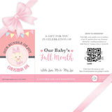 Sweetest Moments Baby Full Month Personalised E-Voucher Pink Girl