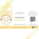 Sweetest Moments Baby Full Month Personalised E-Voucher Twins