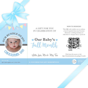 Sweetest Moments Baby Full Month Personalised E-Voucher Boy