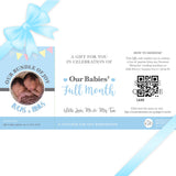 Sweetest Moments Baby Full Month Personalised E-Voucher Twin Boys